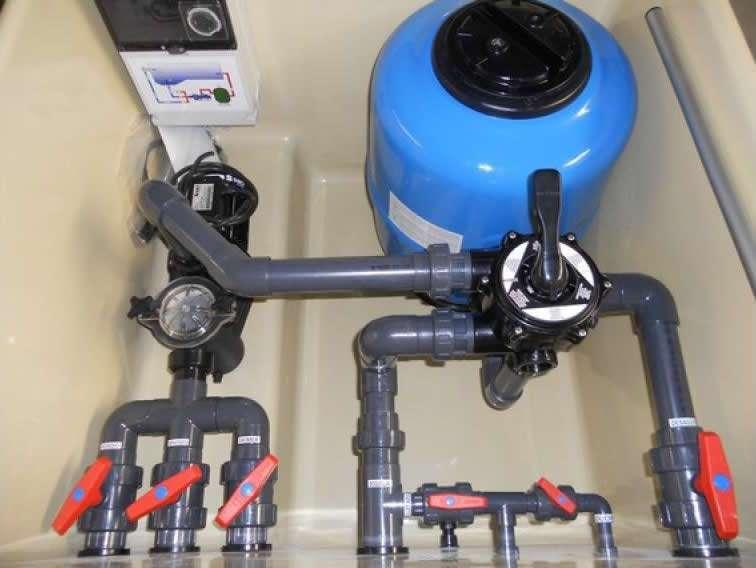 sistema de filtración de la piscina