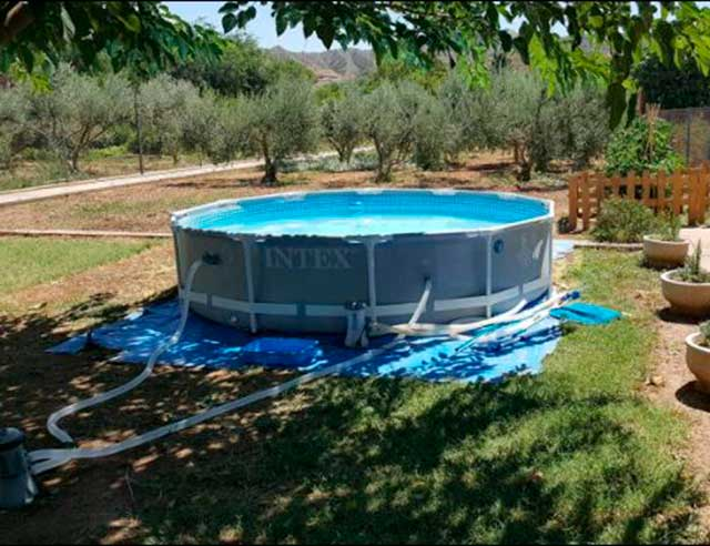 Piscina Intex instalada
